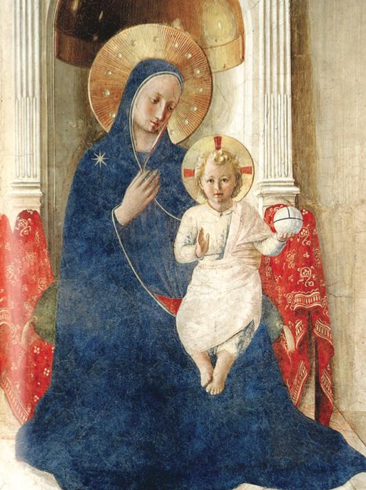 """Beato Angelico, """"Madonna delle Ombre"""", particolare, Firenze"""