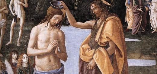 Il Battesimo di Cristo è un affresco (335x540 cm) di Pietro Perugino, realizzato verso il 1482 e facente parte della decorazione del registro mediano della Cappella Sistina in Vaticano. Si tratta dell'unica opera firmata di tutta la Cappella. La scena è impostata secondo uno schema simmetrico, tipico di Perugino. Al centro il fiume Giordano scorre dritto verso lo spettatore, fino ai piedi di Gesù e di Giovanni Battista che lo sta battezzando, in primo piano. Dal cielo scende la colomba dello Spirito Santo, inviata da Dio Padre in alto, rappresentato entro un nimbo di luce con serafini e cherubini e affiancato da due angeli in volo. A questo asse centrale converge anche il paesaggio, con una visione simbolica della città di Roma (si riconoscono tra le mura un arco di trionfo, il Colosseo e il Pantheon) verso la quale tendono le linee di forza delle due quinte rocciose digradanti ai lati. Alle due estremità si svolgono due episodi secondari, pure improntati a una simmetria che ne sottolinea le analogie dottrinali: la predica alle folle del Battista (sinistra) e di Gesù (a destra). Tipico dell'artista è anche il paesaggio che sfuma dolcemente in lontananza, punteggiato da esili alberelli, che divenne uno degli elementi più riconoscibili della scuola umbra. Alla scena in primo piano partecipano anche due angeli inginocchiati che tengono un asciugamano, evidente citazione nordica, che ricorda Hugo van der Goes e il Trittico Portinari, e un battezzando che si sta spogliando, secondo una tradizione iconografica consolidata. Chiudono infine ai lati, in primo piano, una serie di ritratti di personaggi contemporanei, molto rari nelle scene sacre di Perugino, che vennero ispirati dalle analoghe composizioni di Domenico Ghirlandaio, pure al lavoro nella Sistina.