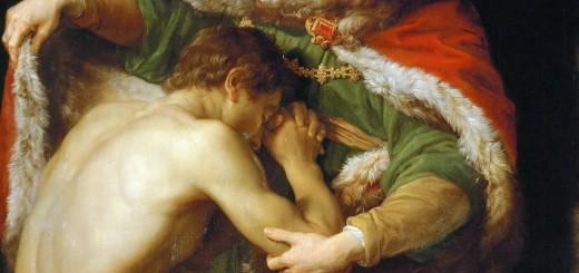 Pompeo Batoni, Ritorno del figliol prodigo, olio su tela,1773, Kunsthistorisches Museum, Vienna.