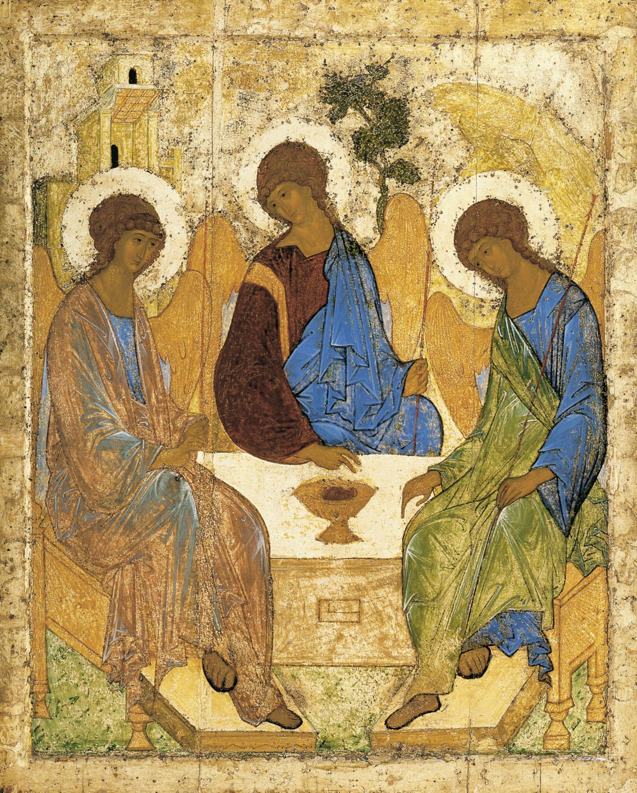 Andrej Rublëv, Trinità (o Ospitalità di Abramo), 1422, Galleria Tret'jakov, Mosca