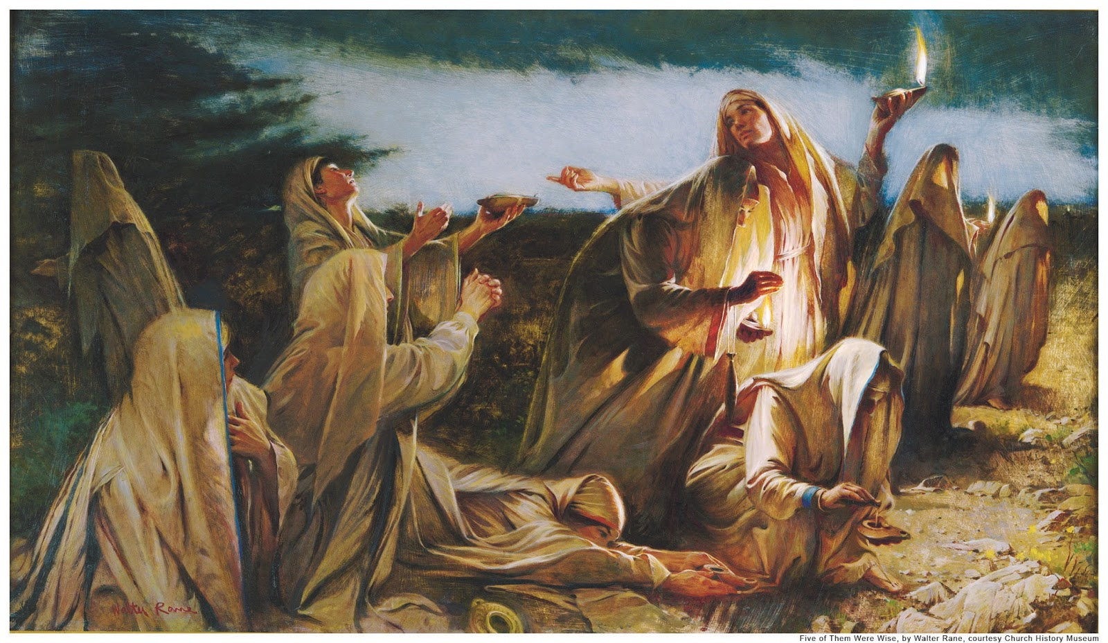 Five of Them Were Wise, Walter Rane courtesy Church History Museum
