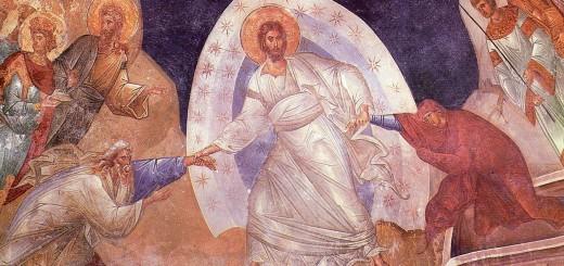 Icona della discesa di Gesù agli inferi, detta anche Anastasis, Chiesa di San Salvatore in Chora ad Istambul XIV secolo