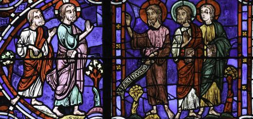 Ecce Agnus Dei, particolare delle vetrate di Notre Dame de Chartres, XIII secolo