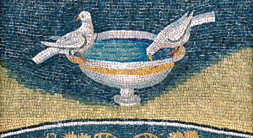 Colombe abbeveranti, Mausoleo di Galla Placidia, Ravenna