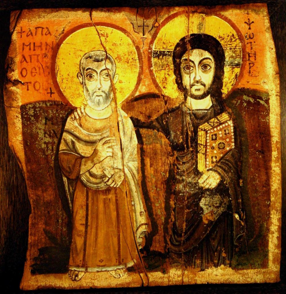 Icona dell'amicizia, icona copta (Egitto), VII sec, Parigi, Museo del Louvre
