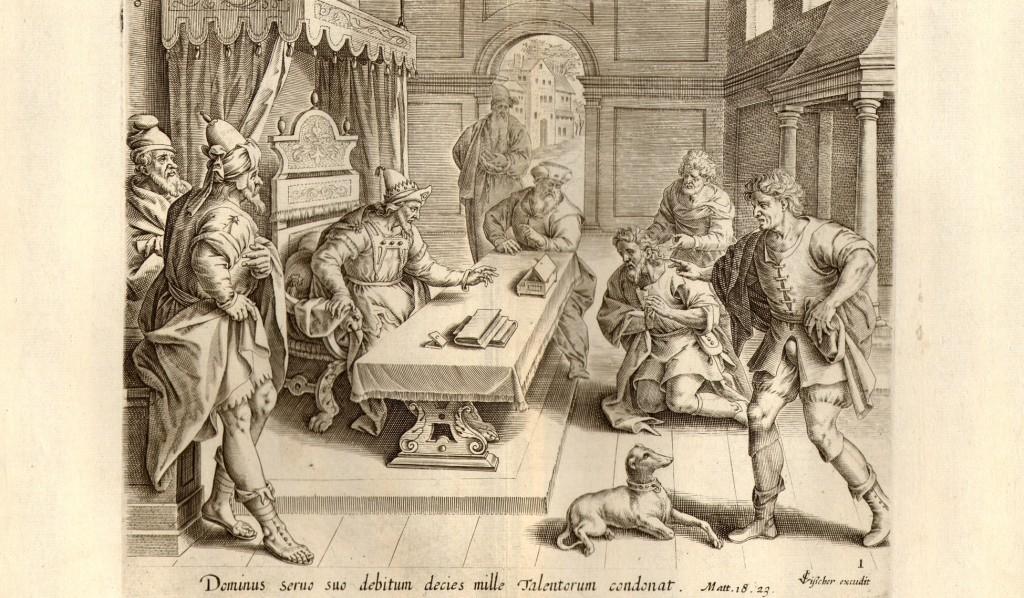 Jeronimus Wierix, La parabola sel servo spietato, 1553 ca, British Museum Catalogue