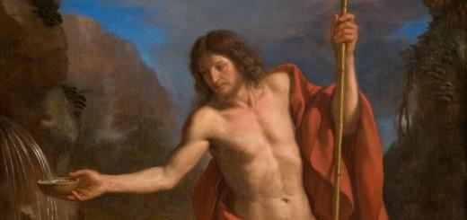 Guercino, San Giovanni Battista alla fonte