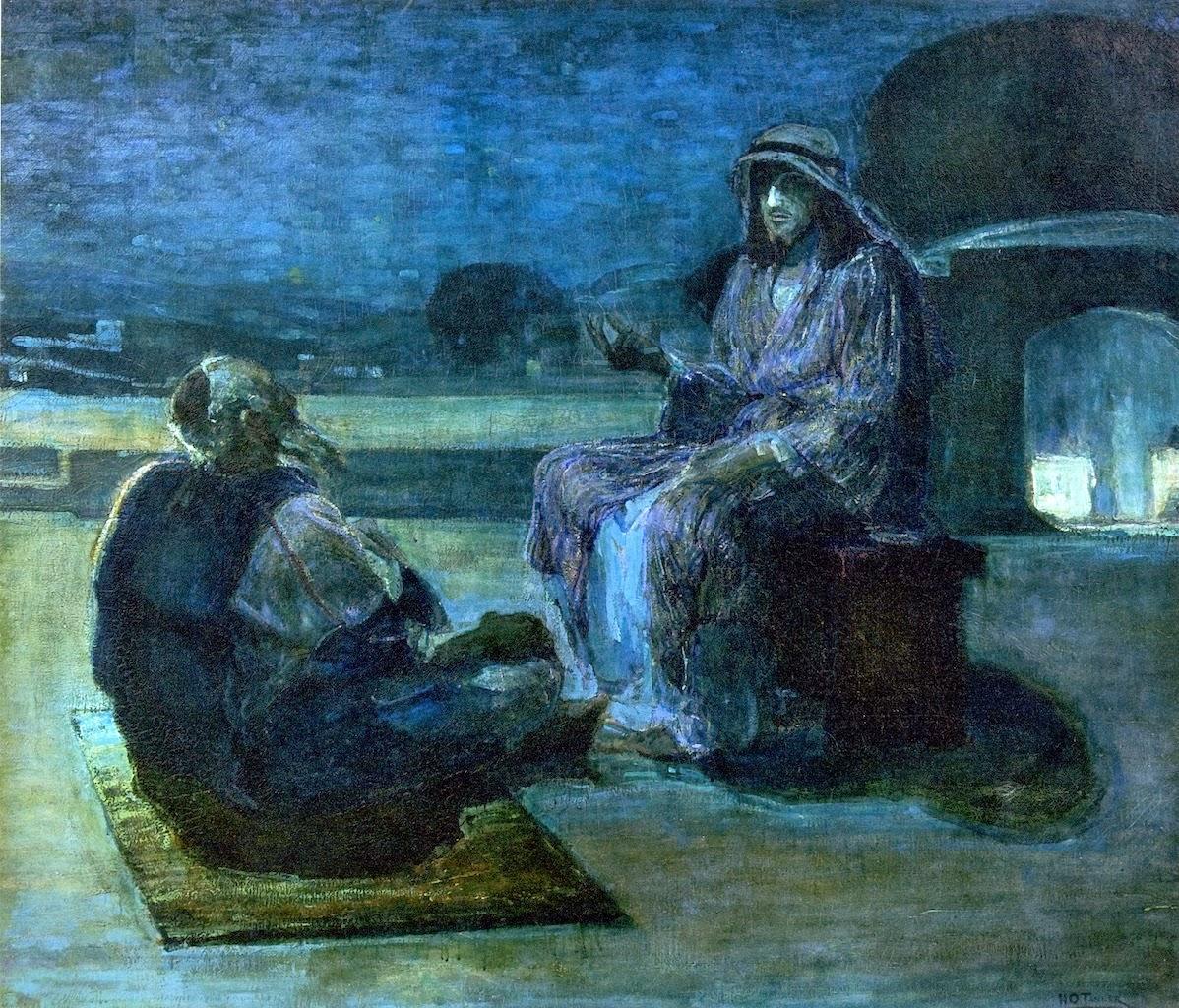 Henry Ossawa Tanner, Gesù e Nicodemo, olio su tela, 1927