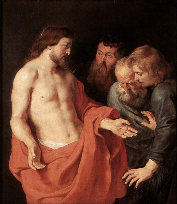 Peter Paul Rubens, L'incredulità di san Tommaso, 1613-1615, Koninklijnk Museum voor Schone Kunsten, Anversa