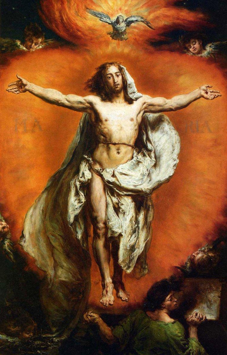 Jan Matejko, Ascensione, 1884, olio su tavola, Museo Nazionale, Varsavia