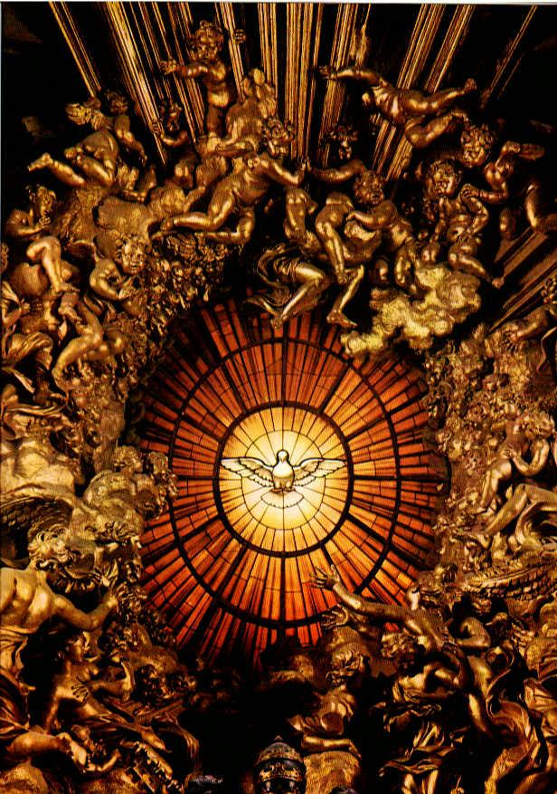Colomba dello Spirito Santo - Basilica San Pietro Roma, vetrata absidale