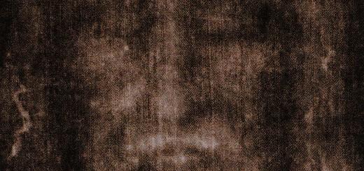 Sacra Sindone, particolare del volto (immagine al negativo)