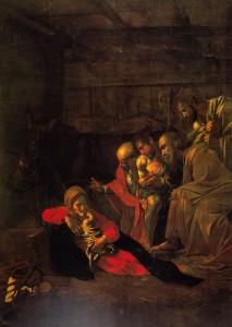 Adorazione dei Pastori 1609 - Caravaggio  by Catherine La Rose