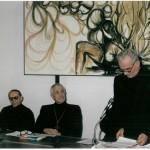 Don Tonino con don Luca e don Michele Carabellese in un convegno alla MdP.