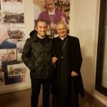 26 novembre 2017, il Vescovo in visita alla mostra fotografica inaugurata dal parroco, don Angelo Mazzone