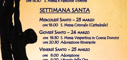 Eventi quaresimali - Settimana Santa 2016