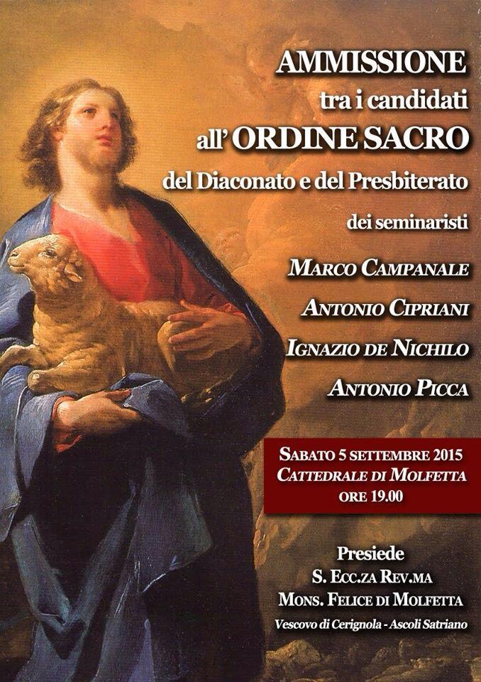Antonio Picca - Ammissione all'ordine sacro (1)