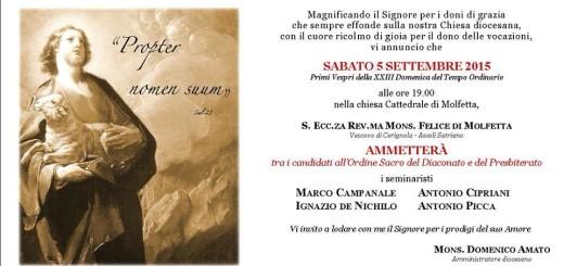 Antonio Picca - Ammissione all'ordine sacro (2)