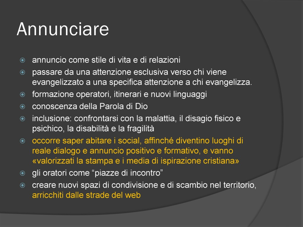 Convegn odi Firenze - annunciare