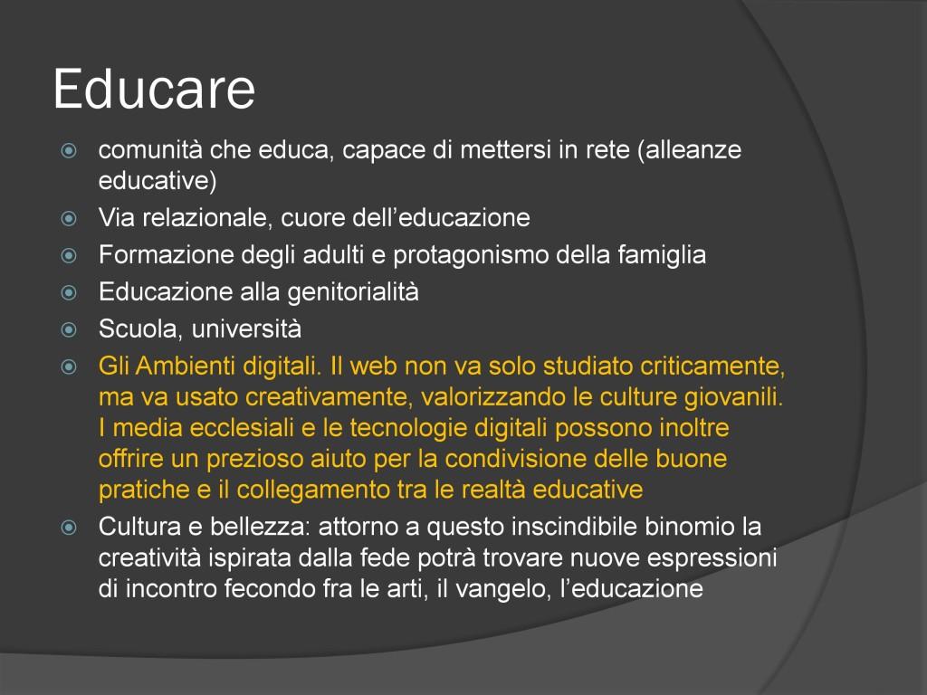 Convegn odi Firenze - educare