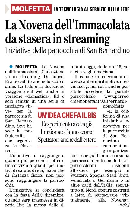 novena-immacolata-streaming-2016-gazzetta-del-mezzogiorno
