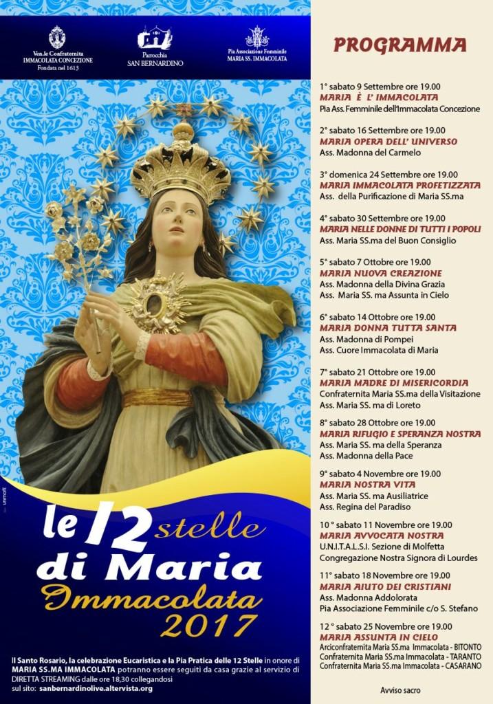 Dodici Stelle Immacolata 2017 - manifesto