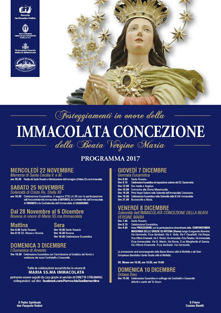 Manifesto Novena Immacolata 2017