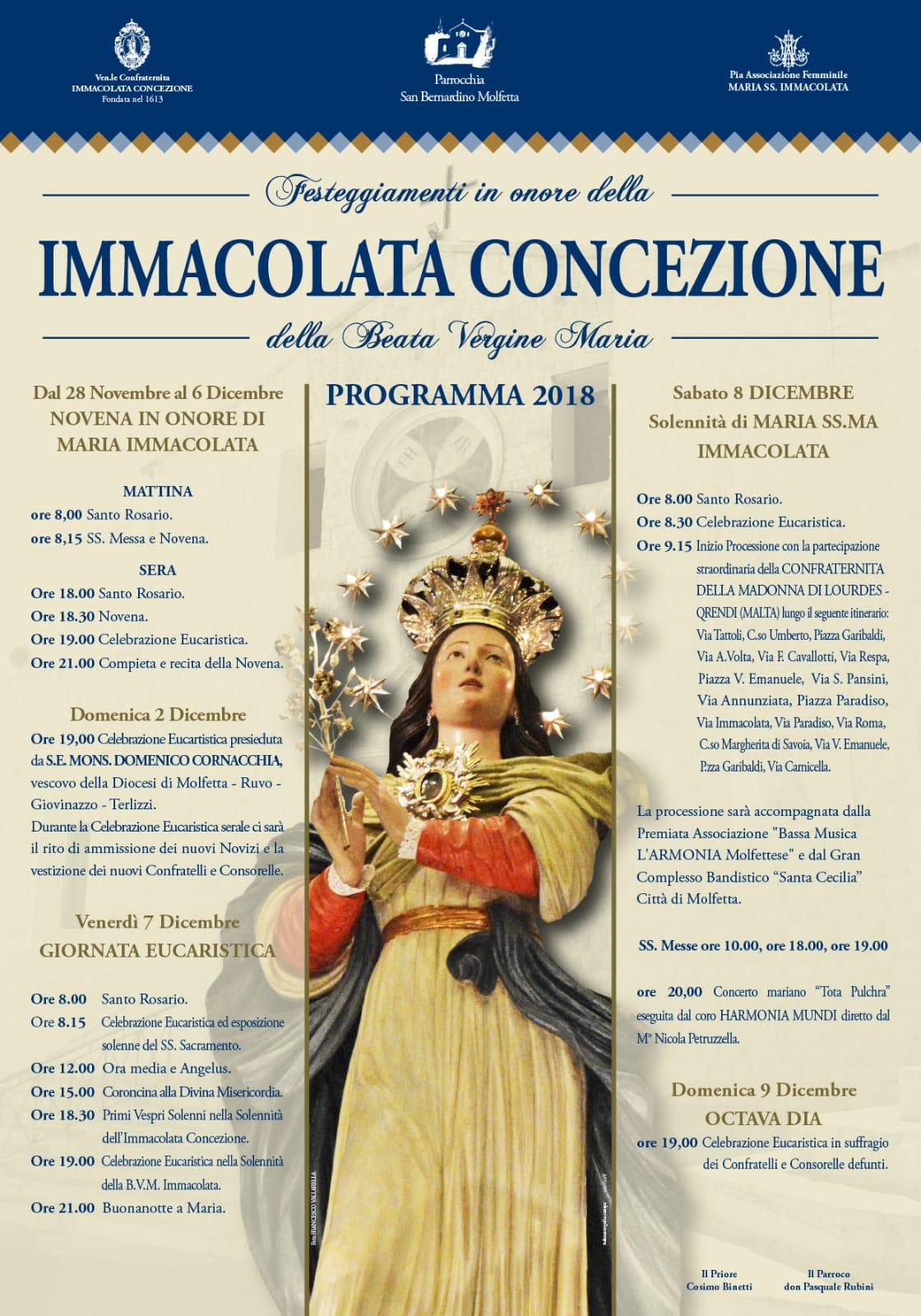 manifesto Novena Immacolata 2018
