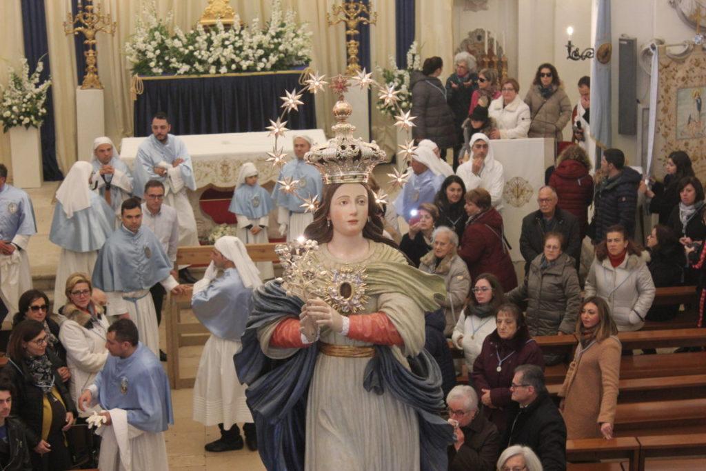 parrocchia san bernardino molfetta confraterntia immacolata concenzione