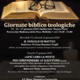 GIORNATE BIBBLICO TEOLOGICHE DIOCESANE 2020