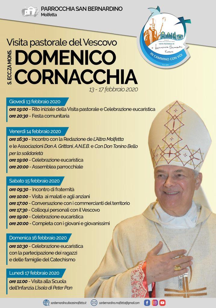 manifesto visita pastorale parrocchia san bernardino mons. domenico cornacchia 2020
