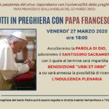 preghiera con Papa Francesco 27 marzo