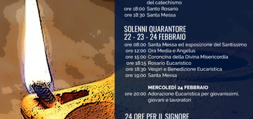 Parrocchia san Bernardino Molfetta appuntamenti eventi quaresima 2021