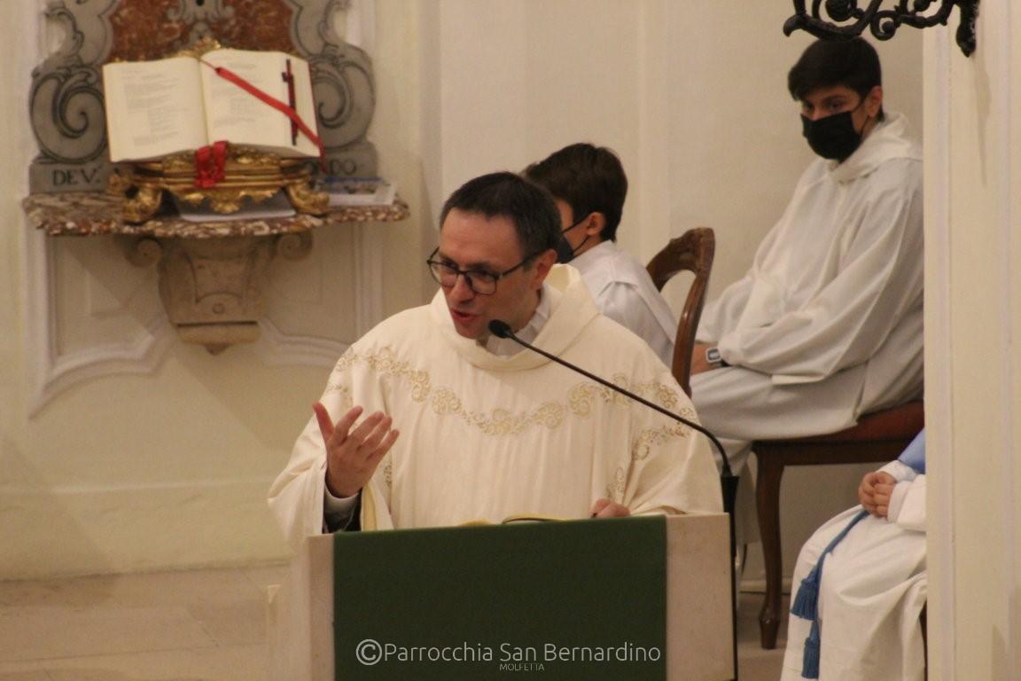 parrocchia san bernardino molfetta messa saluto don pasquale cambio parroco