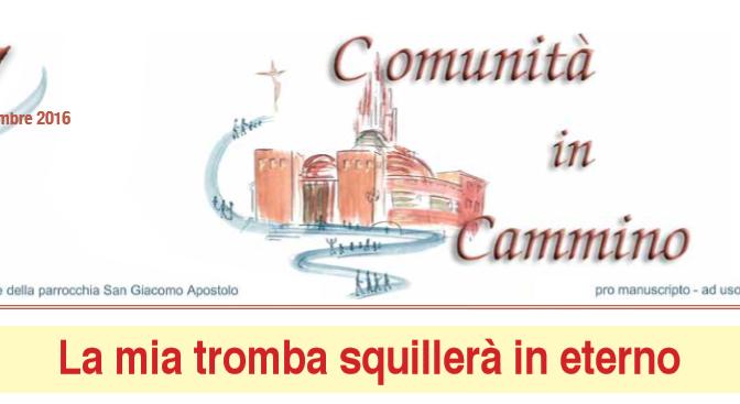 """""""Comunità in Cammino"""", il giornale parrocchiale è online"""