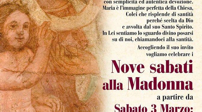 Nove sabati alla Madonna